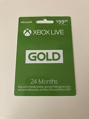 24 Month Microsoft Xbox Live Gold Membership Subscription for Xbox One/Xbox 360
