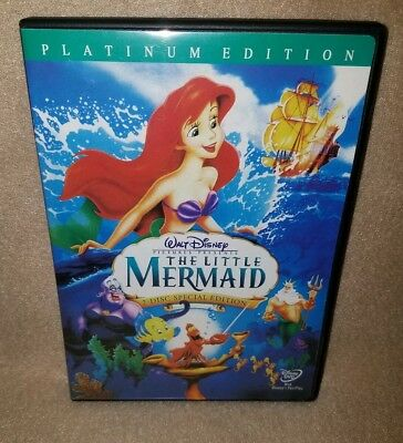 THE LITTLE MERMAID (Disney DVD, 2006, 2-Disc Set, Platinum Edition) Like New