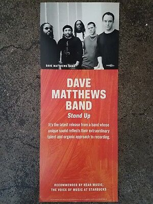 RARE Dave Matthews Band STAND UP poster from STARBUCKS store HEAR MUSIC 2005