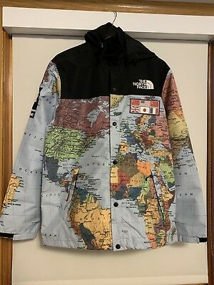 SUPREME SS14 TNF The North Face Expedition Coaches World Map Jacket ...