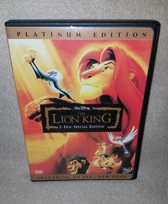 THE LION KING (Disney DVD, 2003, 2-Disc Set) Platinum Edition - Like New