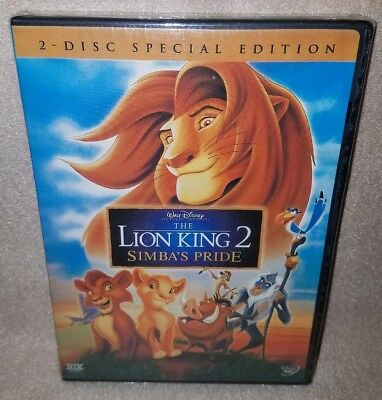 THE LION KING 2: SIMBA'S PRIDE (Disney 2-Disc DVD) (Brand New, Sealed) Genuine
