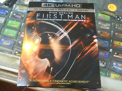 First Man 4K Ultra HD & Blu Ray Slipcover NO DIGITAL Exc Con Movie