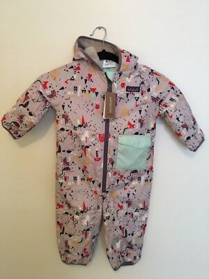 NWT, Patagonia Infant Puff-Ball Bunting, Block Houses, SZ 6-12 months