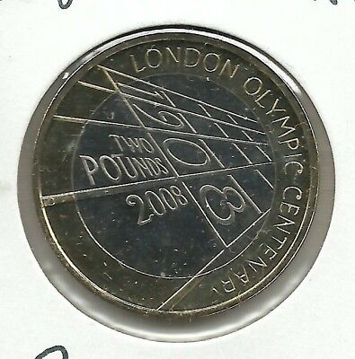 GREAT BRITAIN 2 Pounds 2008 London Olympics  - KM 1105