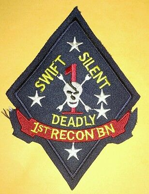 First Recon Battalion Swift Silent Deadly Embroidered Patch