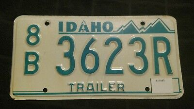 Vintage 1980's Idaho Trailer License Plate 8B3623R