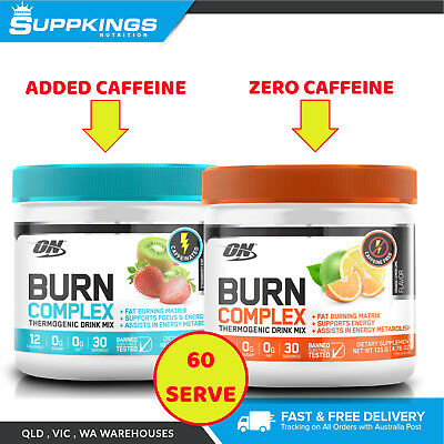 OPTIMUM NUTRITION BURN COMPLEX THERMOGENIC 60 Serve / OxyShred / EHP Labs