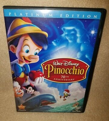 PINOCCHIO Platinum Edition (Disney DVD, 2009, 2-Disc Set) 70th Anniversary