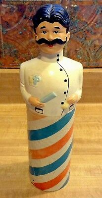 Vintage HTF Rare Hand Painted Wildroot Oil Barbershop Figural Bottle Cover