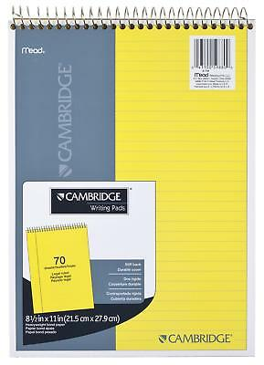 MEAD LEGAL PAD, Top Spiral Bound, Wide Ruled Paper, 70 Sheets, 8-1/2