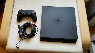 Sony PlayStation 4 Slim 1TB Black Console Controller Original Box & Cable PS4