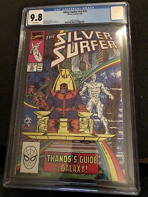 Silver Surfer Vol 3 #35 2nd Book After Return Of Thanos! Awesome Cover CGC 9.8
