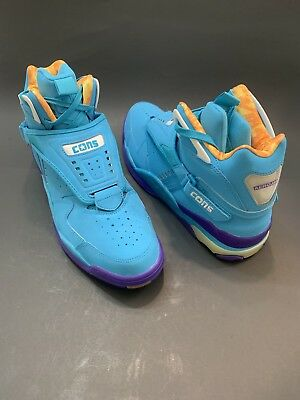 4d0cd9cb278312 CONVERSE CONS AERO JAM TEAL 144260C LARRY JOHNSON CHARLOTTE HORNETS EASTER  Sz 12