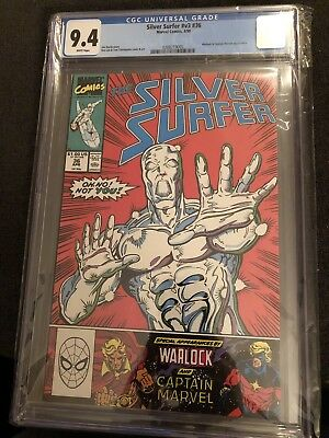 The Silver Surfer Vol.3 #36 CGC 9.4 Warlock And Captain Marvel App. Great Cover!