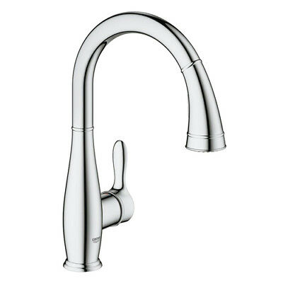 GROHE PARKFIELD SINGLE-HANDLE Pull-Out Sprayer Kitchen ...
