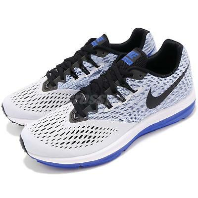 149a876fdba Nike Zoom Winflo 4 IV White Blue Black Mens Running Shoes Trainers  898466-010