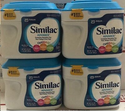 (4 tub) Similac Advance Infant Formula Powder with Iron - 23.2oz