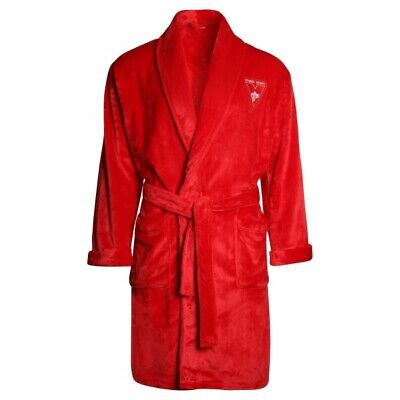 Sydney Swans Adult Official AFL Winter Poly Fleece Dressing Gown Robe
