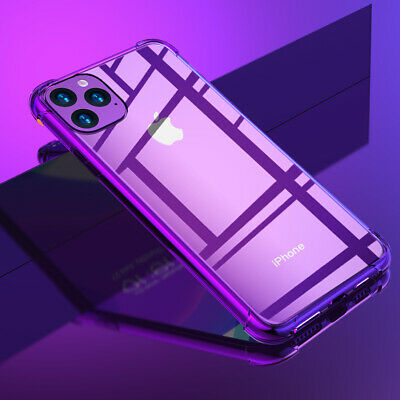 For iPhone 11 Pro XS Max 8 7 Plus Shockproof Armor Clear Soft Rubber Case Cover