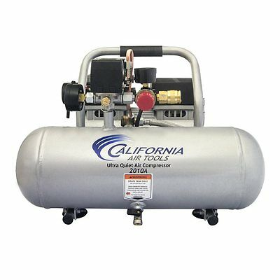 Silver Stationary Ultra Quiet 1-HP 2-Gallon 120-PSI 110-Volt Air Compressor