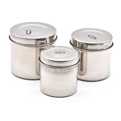 Dental Medical Cotton Tank Alcohol Disinfection Container Jar Stainless Steel US