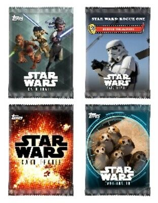 Pack Art-4 Card Lot-Younglings/connections/bts+ Topps Star Wars Card Trader