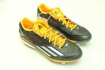 quality design ddb40 ef909 NWT Adidas Energy Boost Icon Men s Baseball Cleats Black Carbon Gold Size 12