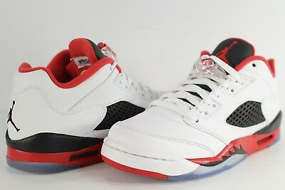 newest 3d3fd ac327 NIKE AIR JORDAN Retro 5 Low White Fire Red Black Size 6.5 Youth 314338-101