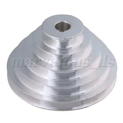 Silver 20mm Hole Dia Outter Dia 54-150mm 5 Step A Type V-Belt Pagoda Pulley Belt