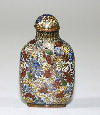 A Chinese Cloisonne 'Mille Fleurs' Snuff Bottle, Qing Dynasty 339