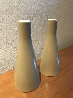 Vintage Salt and Pepper Pots - Made in England - Large 13cm Tall