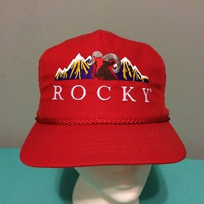 0ee9003ba20467 Vintage Rocky Mountains Snapback Hat Cap Ram EUC Embroidered Made USA