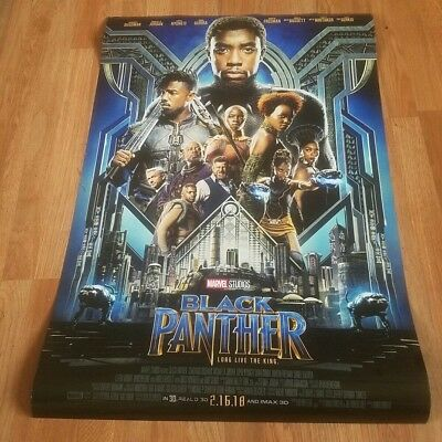 Black Panther, 2-Sided Official Disney Lobby Movie Poster 27 x 40, Marvel Comics
