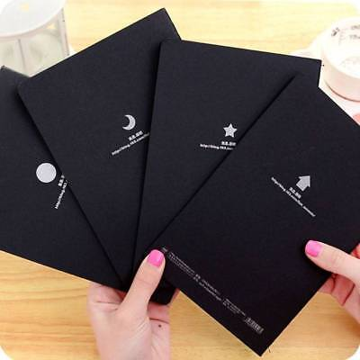 2pcs Sketchbook Notepad Stationery Drawing Black Paper Notebook Painting Book r