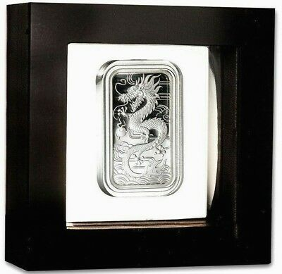 Proof Dragon 1 Oz .9999 Fine Solid Silver Perth Mint Bar Mint Latex Case & # Coa