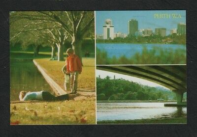 e2956)         MULTI VIEW POSTCARD OF SCENES AROUND PERTH, WESTERN AUSTRALIA