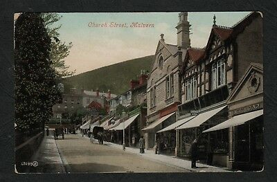e3201)  EARLY POSTCARD OF CHURCH STREET, MALVERN, WORCESTERSHIRE, ENGLAND