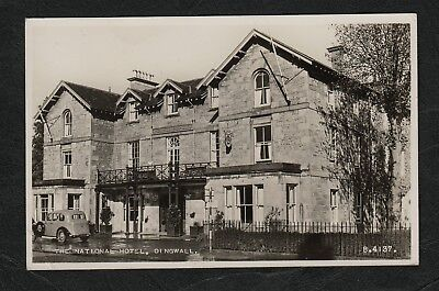 e3202)    VINTAGE REAL PHOTO POSTCARD OF THE NATIONAL HOTEL, DINGWALL, SCOTLAND