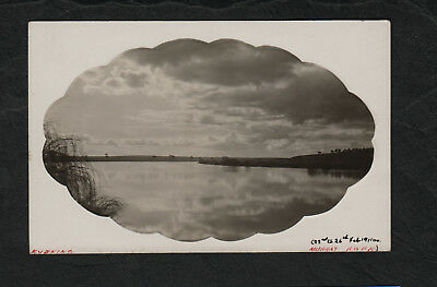 e3203)  REAL PHOTO POSTCARD, EVENING ON THE MURRAY RIVER SOUTH AUSTRALIA 1911