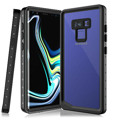 For Samsung Note 9 Waterproof Case Clear Sound Built-in Screen Protector Cover
