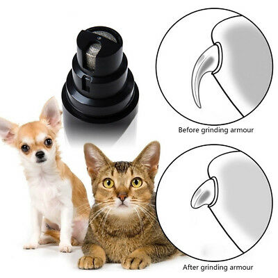 Premium USB Electric Pet Nail Grinder Paws Grooming Trimmer Dog Cat Clipper NEW