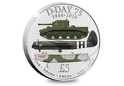 2019 75th Anniversary D-Day Five Pound Coin £5 - Limited Edition (FREE DELIVERY)
