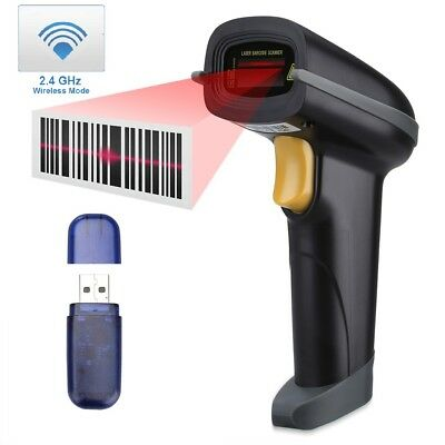 433Mhz Wireless USB Cordless1D Laser Automatic Barcode Reader With USB Receiver