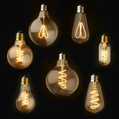 E27 Dimmable  Rétro Vintage Flexible LED Edison Spirale Filament Ampoule