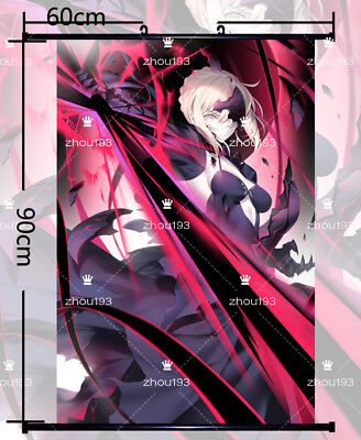 fate//stay night Saber Alter Wall Scroll Poster Home Decor Art Gift 60*90CM#0926