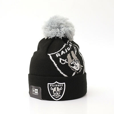 NEW ERA CAP NFL Oakland Raiders Winter Bommel Mütze Beanie Team Over Logo  SALE 16e47cc4b