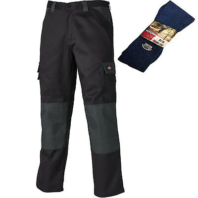 Black Dickies EVERYDAY 24//7 Work Trousers 11 Colours Size 46 Grey