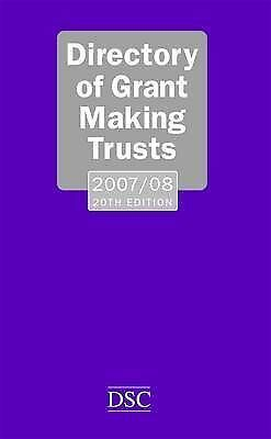 """""""AS NEW"""" Directory of Grant-making Trusts 2007-2008 2007-2008, Lillya, Denise, F"""