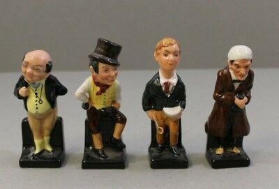 Set of 4 Royal Doulton Charles Dickens Figurines Collectable Ceramics China Home